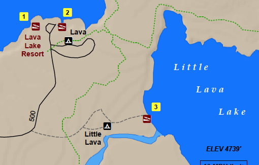 Digital Map of Elk Lake and Hosmer Lake